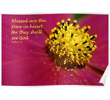 Matthew 5:8 Poster