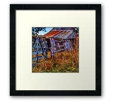 Country gate & shed Framed Print