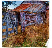 Country gate & shed Poster