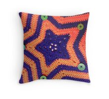 Florida Gator Crocheted Star Blanket Throw Pillow