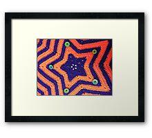 Florida Gator Crocheted Star Blanket Framed Print