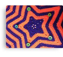 Florida Gator Crocheted Star Blanket Canvas Print