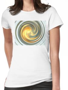 Sky Swirl Womens Fitted T-Shirt
