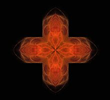 Flaming Cross by aprilann