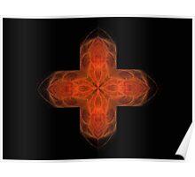 Flaming Cross Poster