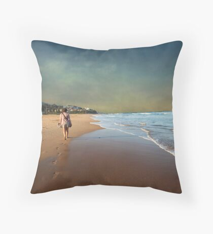 Steps in Solitude Throw Pillow