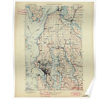 USGS Topo Map Washington State WA Seattle 243632 1897 125000 Poster