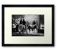 Show Jumping World Cup. Framed Print