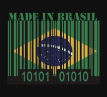 Brasil Barcode Flag Made In... by Netsrotj