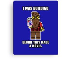 Hipster Lego Canvas Print