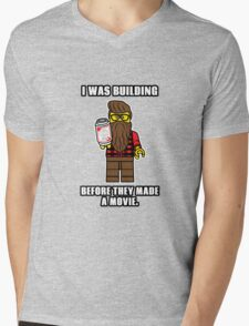 Hipster Lego Mens V-Neck T-Shirt