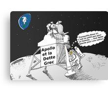 Neil ARMSTRONG : Apollo et la dette Grec Canvas Print