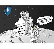 Neil ARMSTRONG : Apollo et la dette Grec Photographic Print