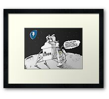 Neil Armstrong and the iMoon publicity vehicle Framed Print