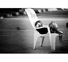 The Plastic chair Kid Photographic Print