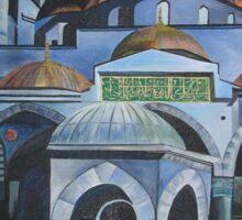 Sultan Ahmed Blue Mosque in Istanbul, Turkey Sticker