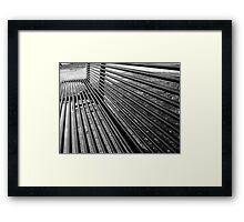 Bench in a park Framed Print