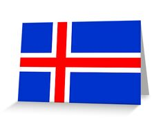 Flag of Iceland Greeting Card