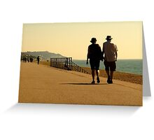 the walk Greeting Card