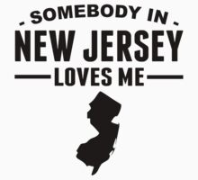 Somebody In New Jersey Loves Me Kids Tee