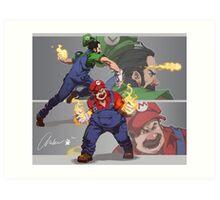 Mario and Luigi Art Print