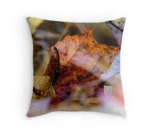 Leaves on the Ground Throw Pillow