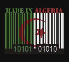 Algeria Barcode Flag Made In... by Netsrotj