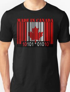 Canada Barcode Flag Made In... T-Shirt