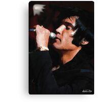 Elvis Black 69 Canvas Print