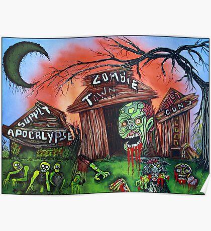 Zombie Town - Horror Art Prints Poster