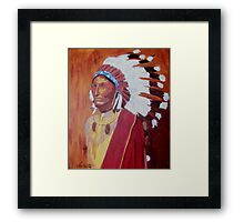 Indian Chief 1900 Framed Print