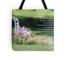 Matthew 5:14-16  Tote Bag
