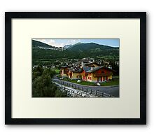 Mountain house Framed Print