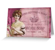 Victorian Lady Classic Soap Advertisement  Greeting Card