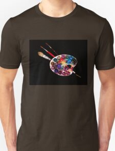 ARTIST COLOUR PALETTE AND BRUSHES T-Shirt