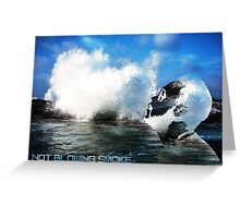 Not Blowing Smoke Seascape Greeting Card