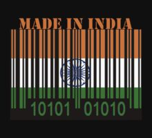 India Barcode Flag Made In... by Netsrotj