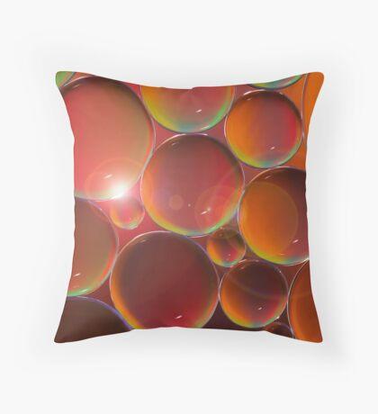 Peach raspberry lemonade Throw Pillow