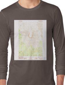 USGS Topo Map Washington State WA Mount St Helens 242550 1983 24000 Long Sleeve T-Shirt