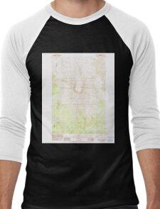 USGS Topo Map Washington State WA Mount St Helens 242550 1983 24000 Men's Baseball ¾ T-Shirt