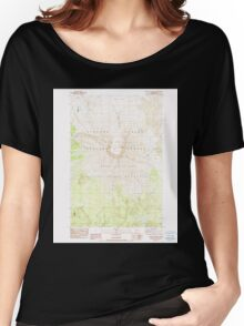 USGS Topo Map Washington State WA Mount St Helens 242550 1983 24000 Women's Relaxed Fit T-Shirt