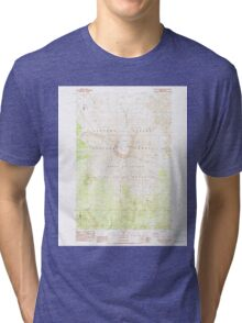 USGS Topo Map Washington State WA Mount St Helens 242550 1983 24000 Tri-blend T-Shirt