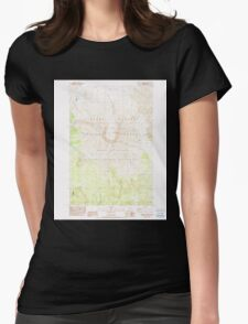 USGS Topo Map Washington State WA Mount St Helens 242550 1983 24000 Womens Fitted T-Shirt