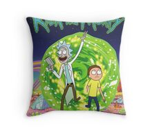 Rick and Morty Tv Series Throw Pillow