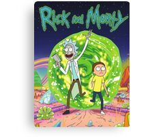 Rick and Morty Tv Series Canvas Print