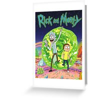 Rick and Morty Tv Series Greeting Card