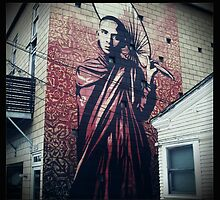 Obey Mural #1 by Dennis  Greenhill