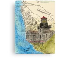 Pt Sur Lighthouse CA Nautical Chart Cathy Peek Canvas Print