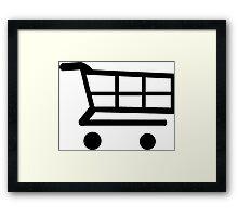 E-Commerce Shopping Cart Framed Print