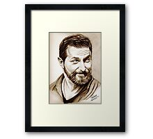 Richard Armitage, shining, sepia Framed Print